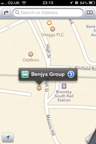 Benjys - a sandwich chain - gone in 2007