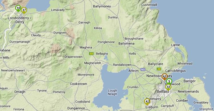 ICMP RTT NI probes to Amazon Dublin NLnog node